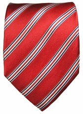 Red, White and Blue Silk Necktie by Paul Malone (911)