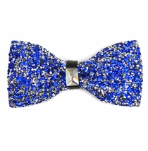 Royal Blue Crystal Bow Tie