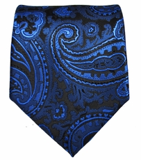 Royal Blue Paisley Men's Tie