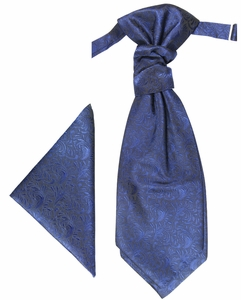 Royal Blue pretied Cravat by Paul Malone