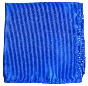 Royal Blue Silk Pocket Square (H349)