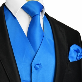 Royal Blue Tuxedo Vest and Accessories