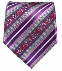 Royal Lilac Striped Men's Tie