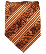 Rust and Orange Mens Tie
