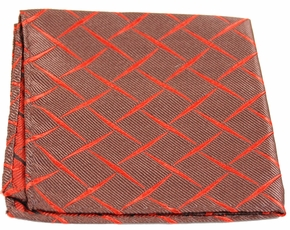 Rust Brown Mens Silk Pocket Square (H412)