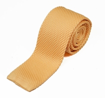 Sand Colored Knit Tie by Paul Malone (KN674)