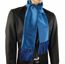Satin Blue Men's Fashion Scarf (SC100-KK)