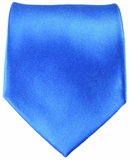 Satin Blue Paul Malone Silk Necktie (905)