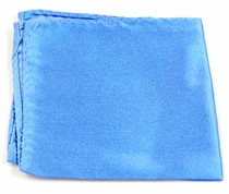 Satin Blue Pokcet Square . 100% Silk (H840)