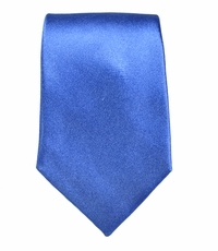 Satin Blue Slim Tie by Paul Malone . 100% Silk
