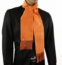 Satin Orange Men's Fashion Scarf (SC100-GG)