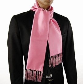 Satin Pink Fashion Scarf (SC100-X)