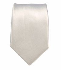 Satin White Slim Tie by Paul Malone . 100% Silk