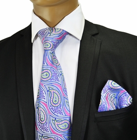 Silk Necktie and Pocket Square by Verse9 . Big Knot
