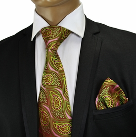 Silk Tie and Pocket Square by Verse9 . Big Knot