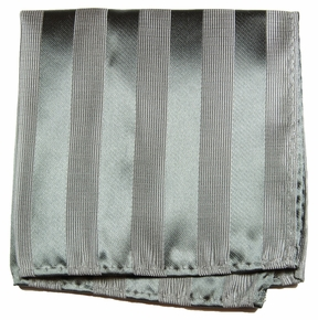 Silver Gray Pocket Square . 100% Silk (H811)