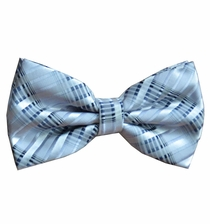 Silver-Grey Patterned Bow Tie Set (BT438-N)