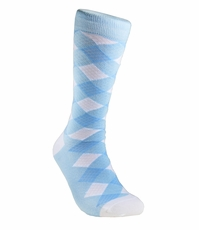 Sky Blue and White Men's Socks by Paul Malone