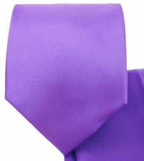 Solid Amethyst Violet Necktie and Pocket Square (Q100-HH)