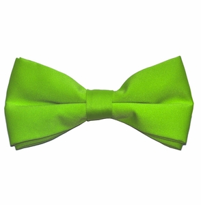 Solid Apple Green Bow Tie . Pre-Tied (BT10-V)