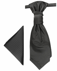 Solid Black Cravat Set by Paul Malone (PLV21H)