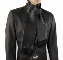 Solid Black Men's Fashion Scarf (SC100-B)