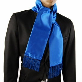 Solid Blue Fashion Scarf (SC100-i)