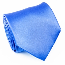 Solid Blue Silk Necktie by Paul Malone (921)