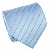 Solid Blue Silk Necktie by Paul Malone (928)