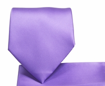 Solid Grape Jam Necktie and Pocket Square Set (Q100-AA)