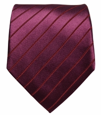 Solid Burgundy Paul Malone Silk Necktie (929)
