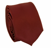 Solid Burgundy SLIM Necktie . 2.25' wide (Q3000-W)