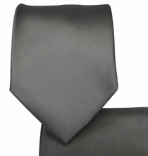Solid Charcoal Necktie and Pocket Square Set (Q100-NN)