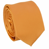 Solid Copper SLIM Necktie . 2.25' wide (Q3000-C)