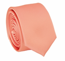Solid Rose Pink SLIM Necktie . 2.25' wide (Q3000-RR)