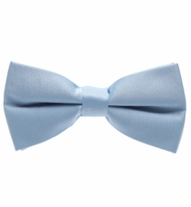 Solid Dark Silver Bow Tie (BT10-RR)