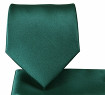 Solid Emerald Green Necktie & Pocket Square