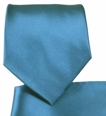 Solid Glaucous Blue Necktie and Pocket Square (Q100-KK)