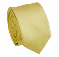Solid Gold SLIM Necktie . 2.25' wide (Q3000-JJ)