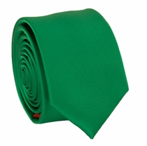 Solid Green SLIM Necktie . 2.25' wide (Q3000-Z)