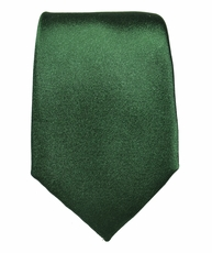 Solid Green Slim Necktie by Paul Malone . 100% Silk