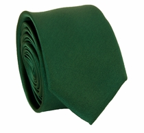 Solid Hunter Green SLIM Necktie . 2.25' wide (Q3000-CC)