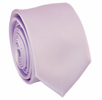 Solid Lavender Blush SLIM Necktie . 2.25' wide (Q3000-VV)