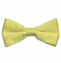 Solid Light Yellow Bow Tie . Pre-Tied (BT10-K)