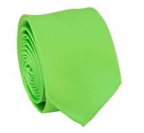 Solid Lime Green SLIM Necktie . 2.25' wide (Q3000-F)