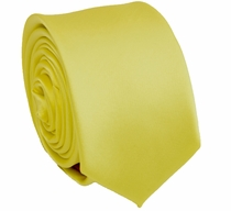 Solid Lite Yellow SLIM Necktie . 2.25' wide (Q3000-D)
