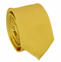 Solid Medium Yellow SLIM Necktie . 2.25' wide (Q3000-M)