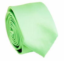 Solid Mint Cream SLIM Necktie . 2.25' wide (Q3000-QQ)