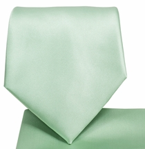 Solid Mint Green Necktie and Pocket Square Set (Q100-V)