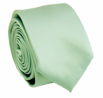 Solid Mint SLIM Necktie . 2.25' wide (Q3000-V)